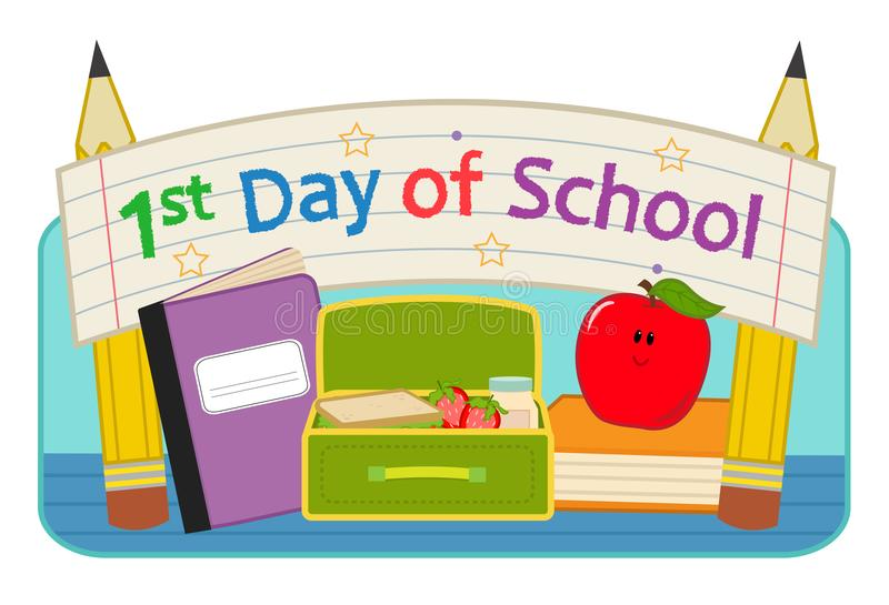 First Day School clip-art stock vector. Illustration of educational - 118369961
