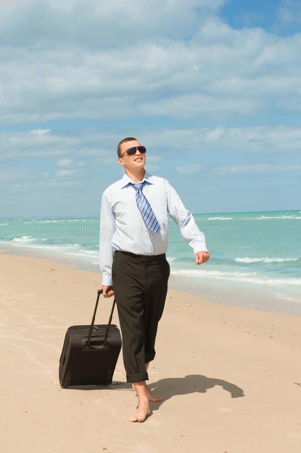 First day of vacation royalty free stock photography