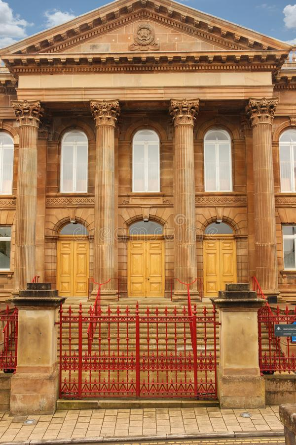 First Derry Presbyterian Church. Derry Londonderry. Northern Ireland. United Kingdom. Neoclassical facade. First Derry Presbyterian Church. Derry Londonderry royalty free stock photography