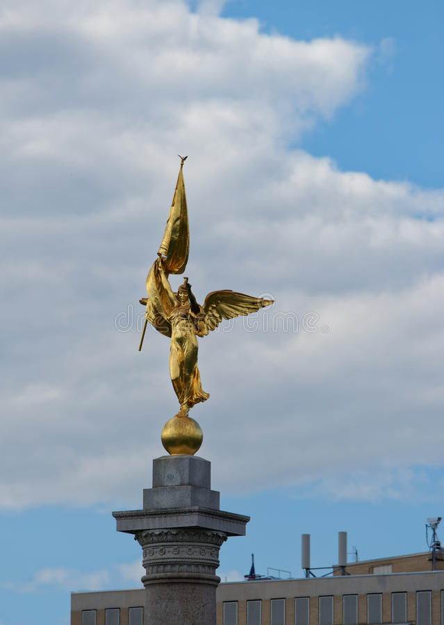 First Division Monument in Washington DC USA. First Division Monument is located in the US capital, Washington D.C. The statue is dedicated to those people who royalty free stock photography