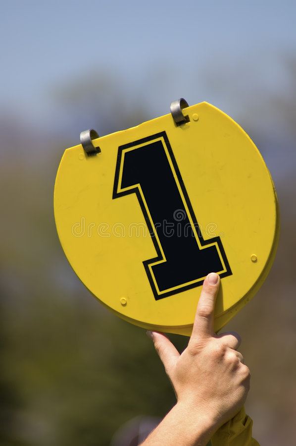 First down football marker royalty free stock photography