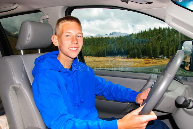 First Driving Lessons Royalty Free Stock Photography