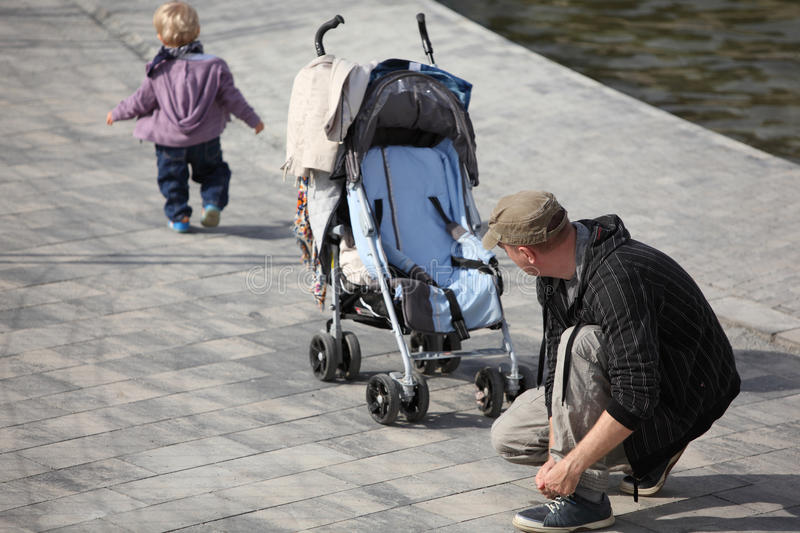 Download The first escape of baby stock image. Image of inattention - 13360923