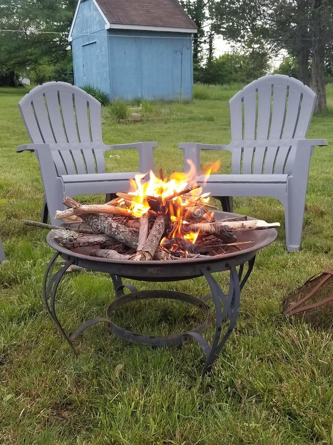First fire of the season. Fire season summer leisure landscape first stock images