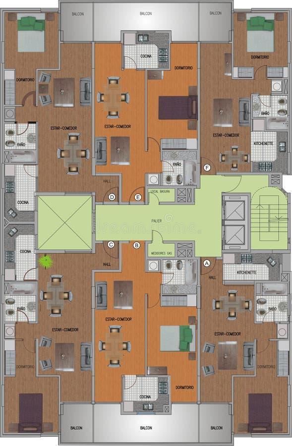 First floor vector illustration