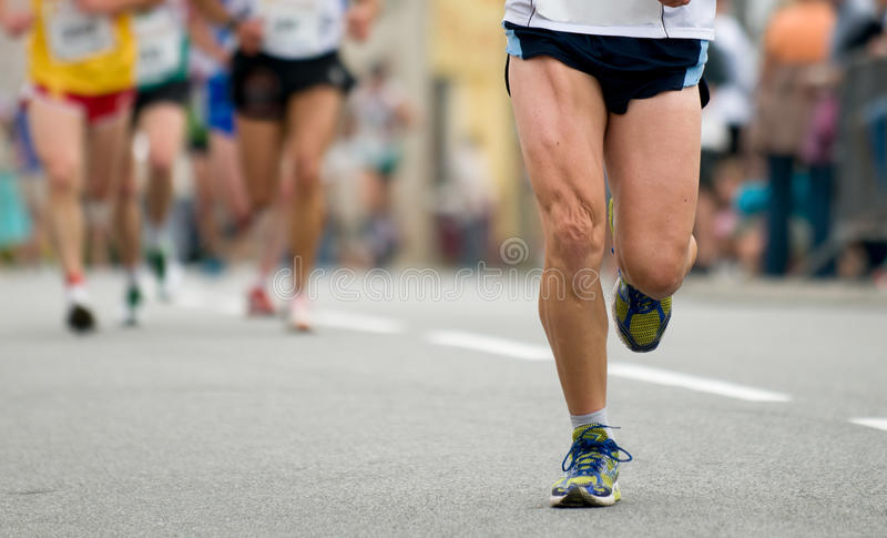 First At Foot Race Stock Photography
