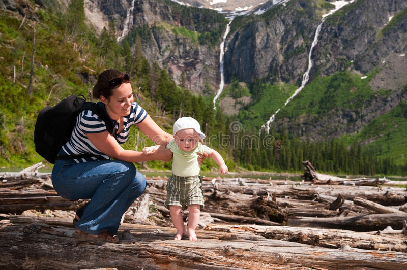 First hike royalty free stock photography