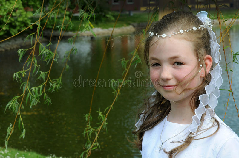 Download First holy communion stock image. Image of child, girl - 20391045