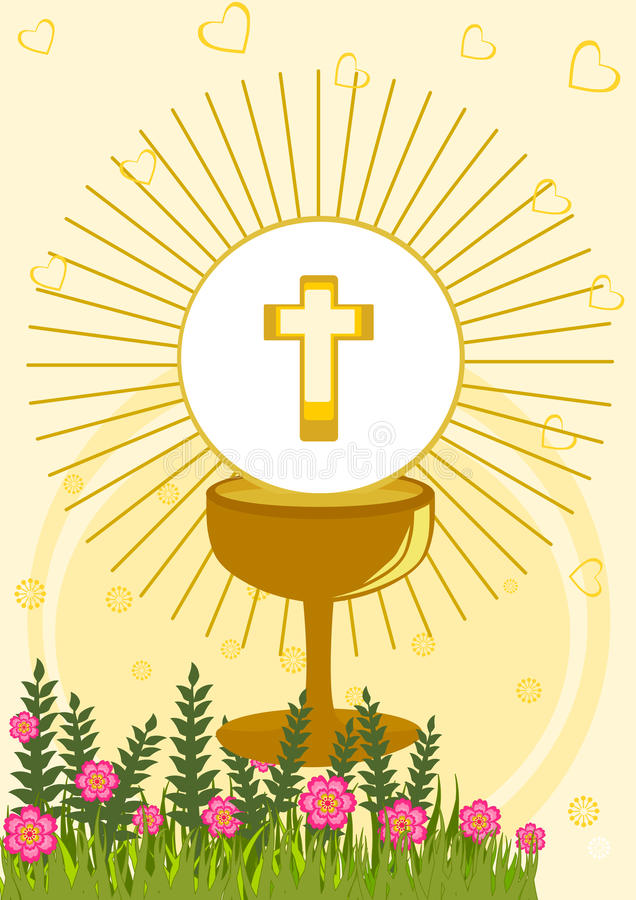 First Holy Communion royalty free illustration