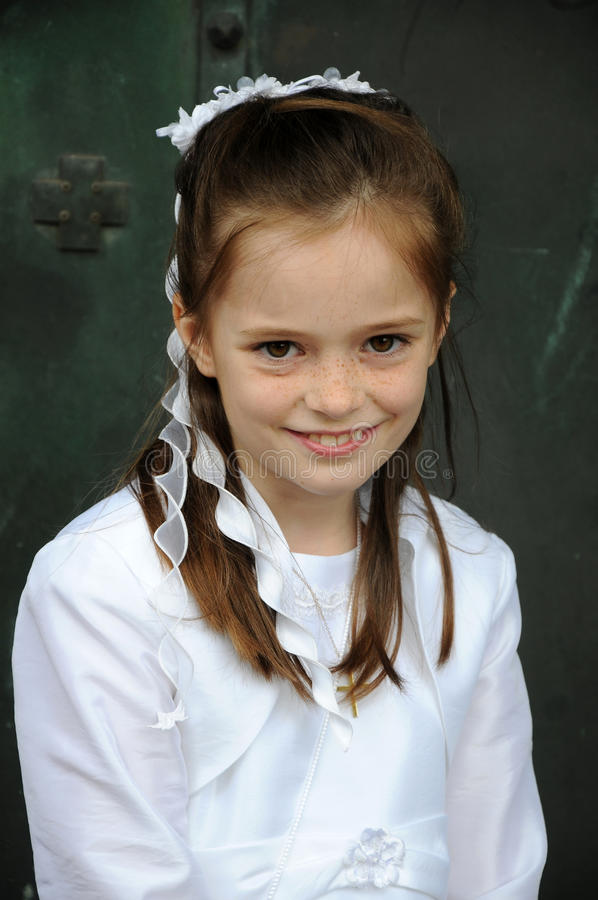 First holy communion stock image