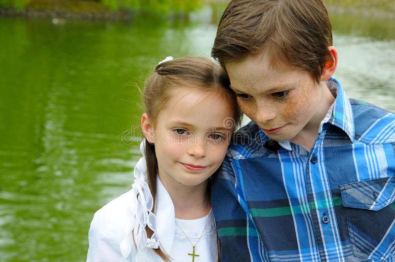 First holy communion royalty free stock images