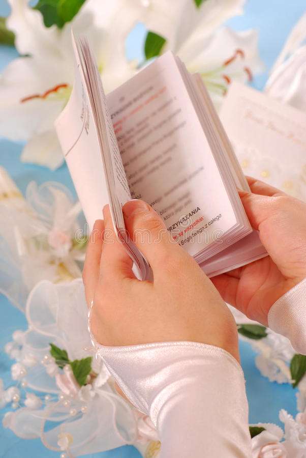 Download First Holy Communion-prayer Book Stock Photo - Image: 19088990