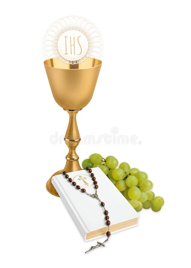 The first Holy Communion royalty free stock photos