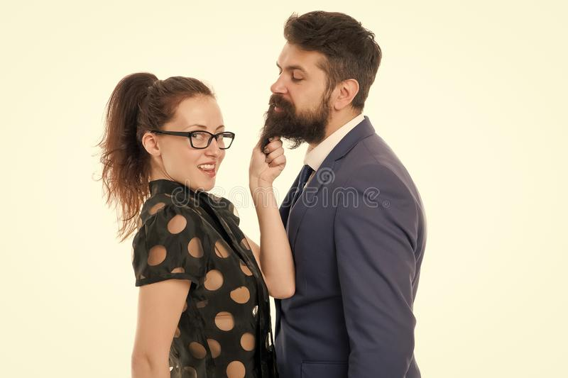 First impressions are everything. Man and woman compete for job position. Gender equality. Business rivalry concept. First impressions are everything. Man and royalty free stock photo