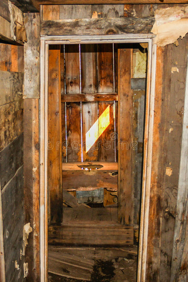 First Indoor Toilet in Colorado. Found in Animas Forks one of the first known indoor toilets royalty free stock photos