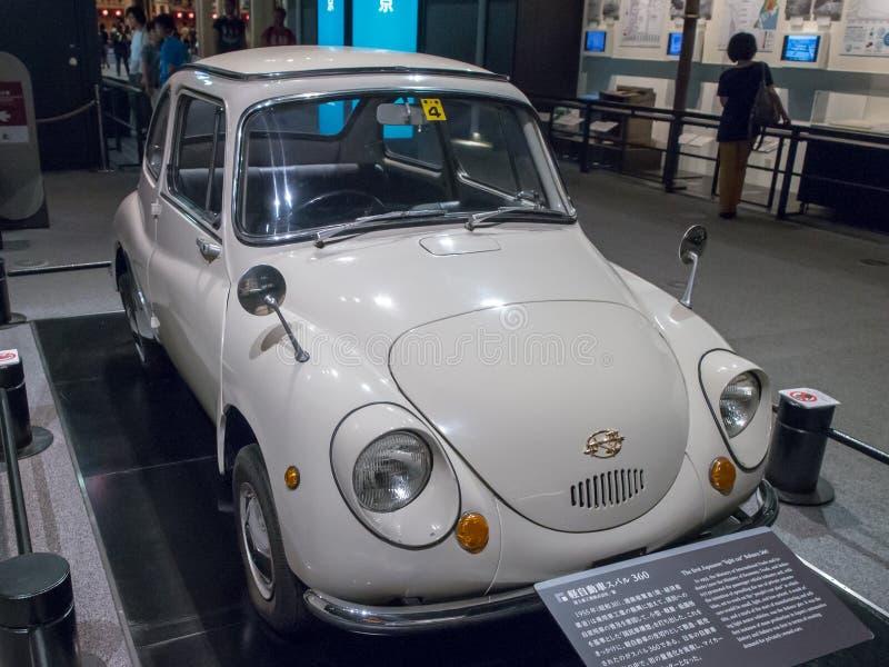 The First Japanese Light Car Subaru 360 in Edo-Tokyo Museum, Japan stock fotografie