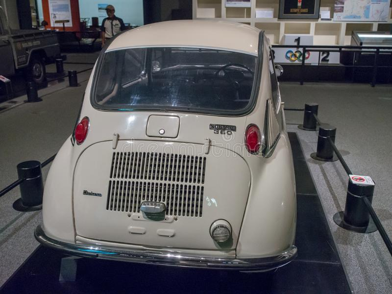 The First Japanese Light Car Subaru 360 in Edo-Tokyo Museum, Japan royalty-vrije stock afbeeldingen