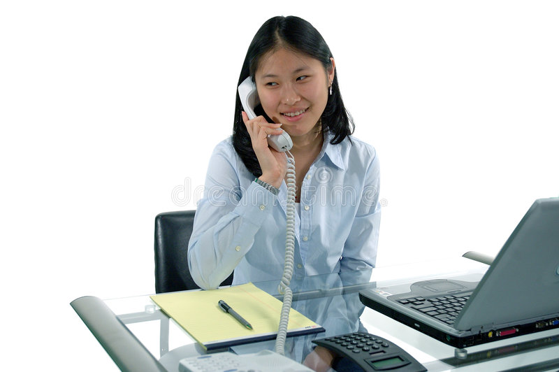 First Job Receptionist stock photography