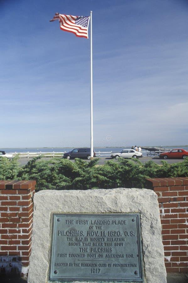 First landing spot of the Pilgrims, Provincetown, Cape Cod, Massachusetts stock photo