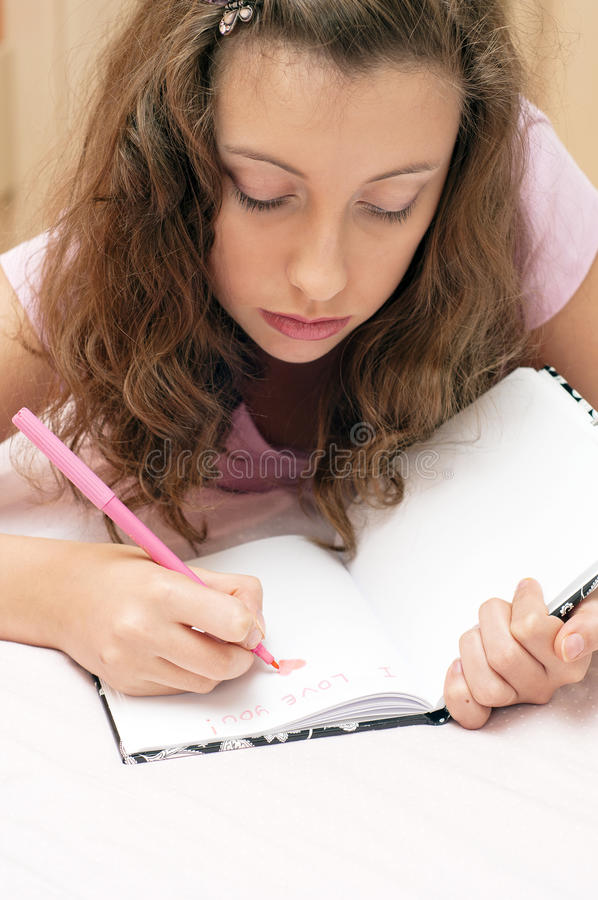 Download First love stock photo. Image of diary, draw, thoughtful - 21218438