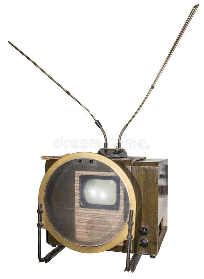 The first mass television serial in the USSR (1949). Is isolated on white stock images