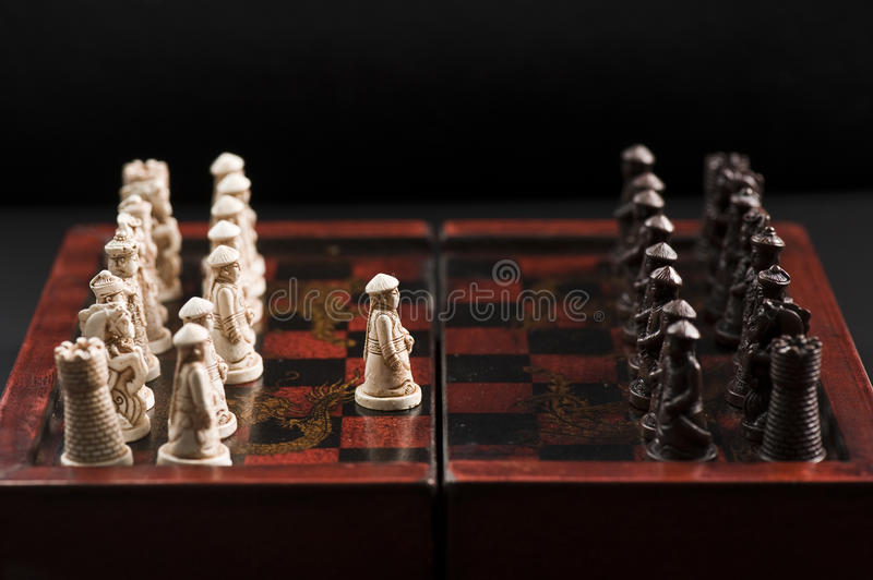 Download First move of a chess game stock image. Image of face - 9889169