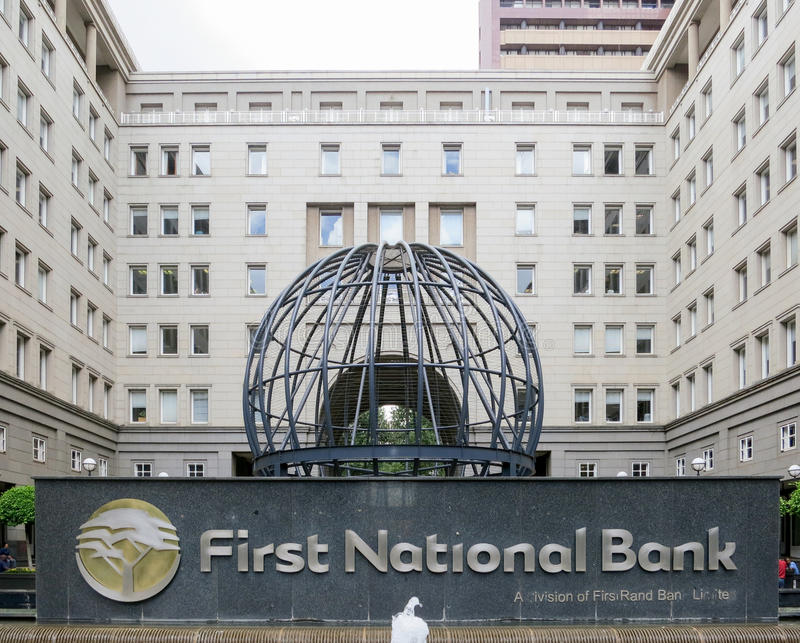 First National Bank - Johannesburg, South Africa stock photos