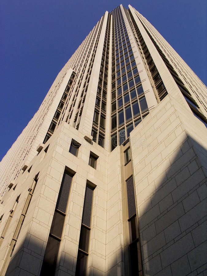 First National Tower Profile royalty free stock photography