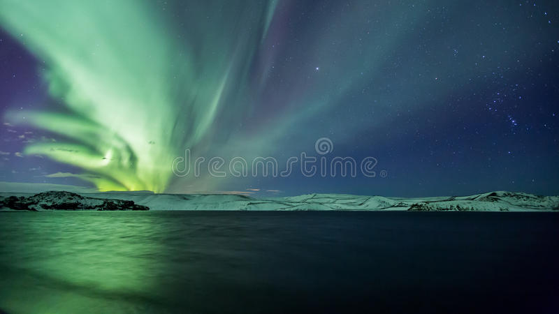 Download First Northern Lights Of 2014 Stock Image - Image of atmosphere, evening: 36371459