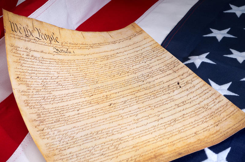 Download The First Page Of The US Constitution Stock Image - Image: 13559183