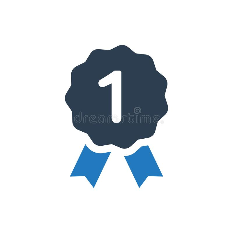 First Place Award Icon. Simple Illustration Of A First Place Award Icon vector illustration