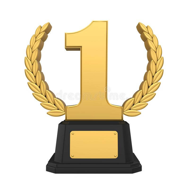 Free First Place Golden Trophy Isolated Royalty Free Stock Photography - 114614767