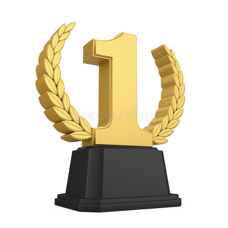 Free First Place Golden Trophy Isolated Stock Photos - 114615233