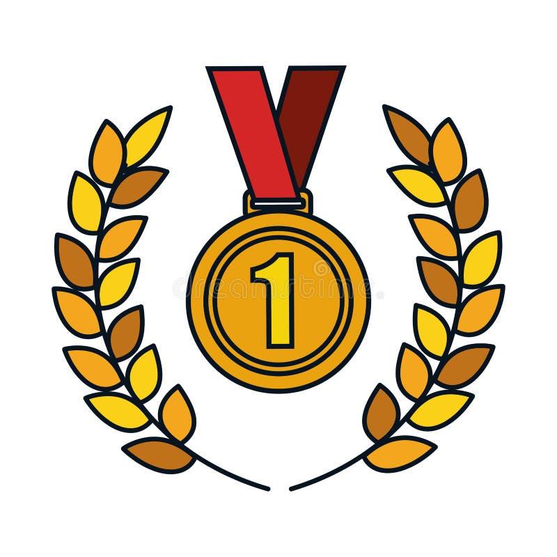 First place winner award vector illustration