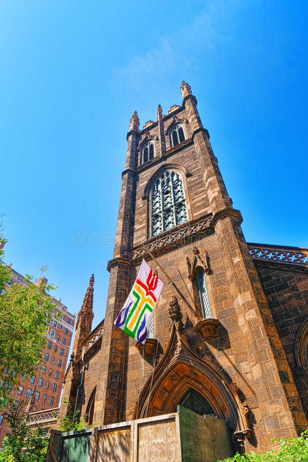First Presbyterian Church on 5th Avenue, urban views of New York. New York, USA- August 14, 2017 : First Presbyterian Church on 5th Avenue, urban views of New stock photography