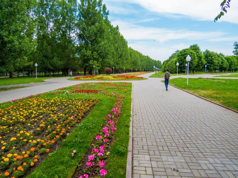 First President Park, Almaty, Kazakhstan stock image