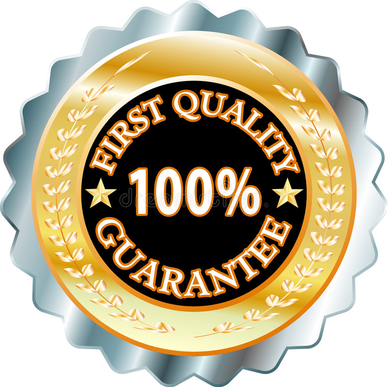 First quality. Vector label for quality products royalty free illustration