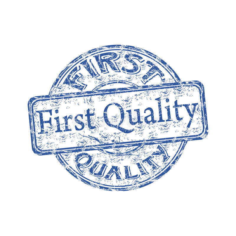 First quality rubber stamp vector illustration