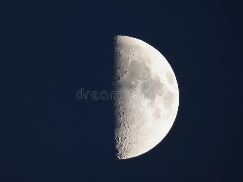 First quarter moon royalty free stock photos
