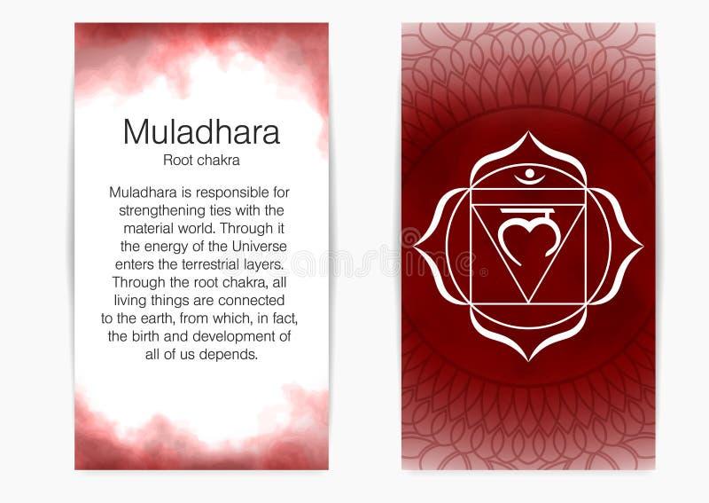 First, root chakra - Muladhara. royalty free stock photos