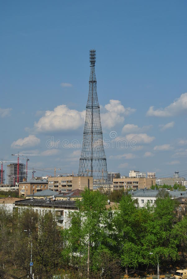 First Russian TV tower in Moscow royalty free stock image
