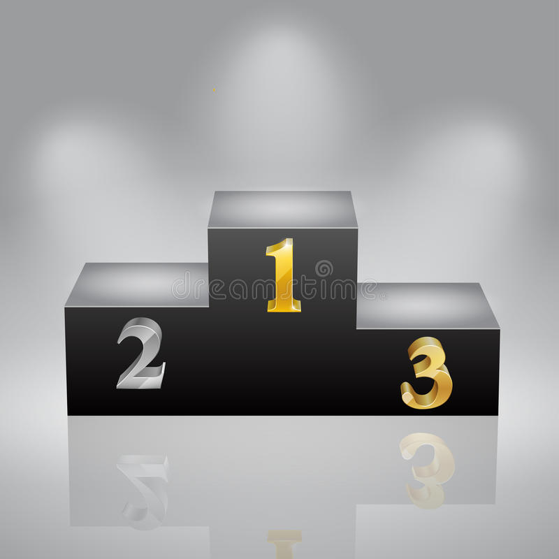 Download First, Second And Third Places Stock Vector - Image: 20127671