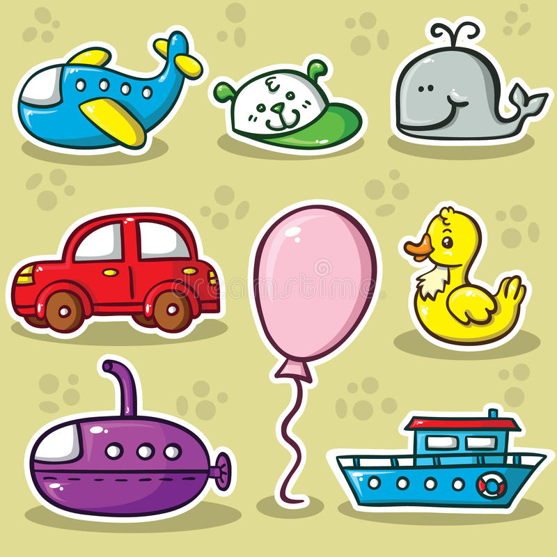 Download First set of toys stock vector. Illustration of group - 31240792
