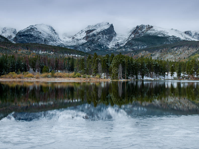 Download First Snow stock image. Image of green, park, peaks, mountains - 21899105