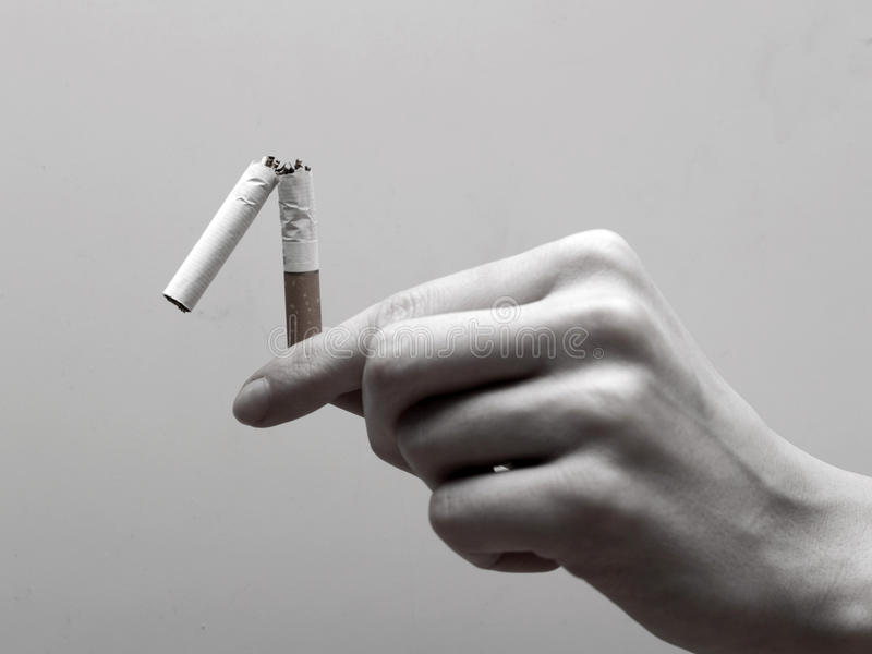 First step to quit smoking royalty free stock photos