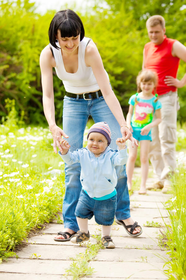 Download First steps stock photo. Image of daughter, girl, mother - 14329670