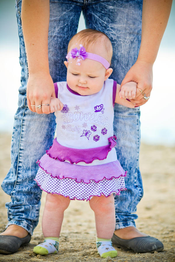 Download First steps stock image. Image of emotional, cute, love - 26866235