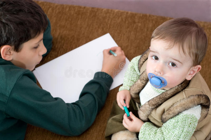 Download First studying stock image. Image of childhood, face - 11640593