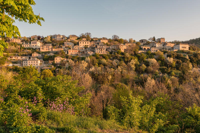Download First Sun Rays On The Picturesque Village Of Vitsa In Zagori Area, Northern Greece Stock Photo - Image of forest, landscape: 93326544