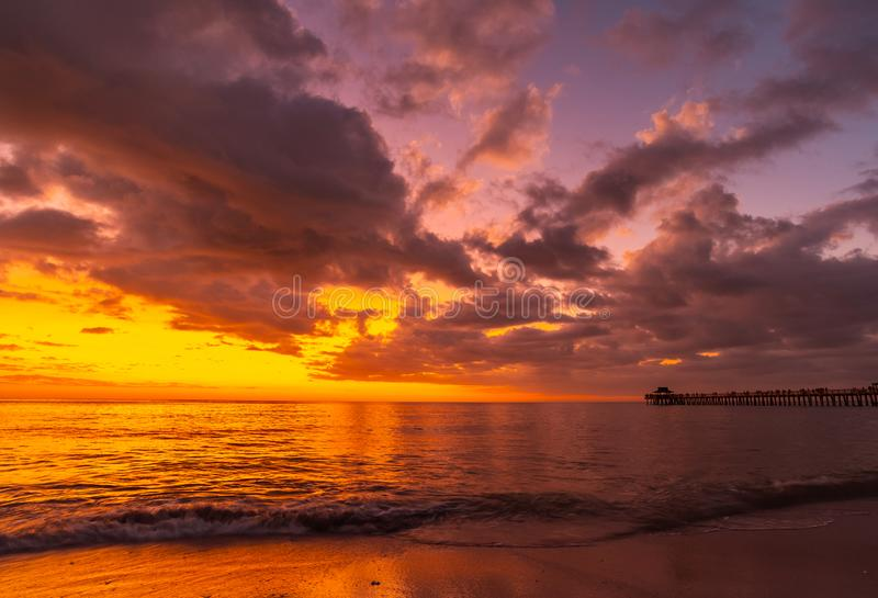 First sunset 2019 royalty free stock image